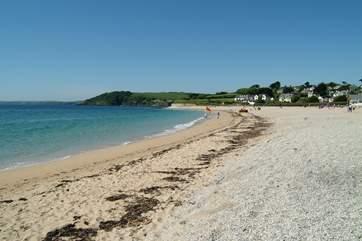 Gyllyngvase Beach is a mile or so away.