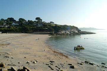 Swanpool beach is a couple of miles from Tideway.