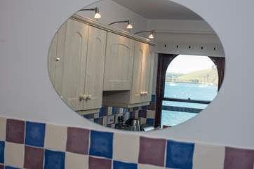 The view can be admired even from the kitchen sink!