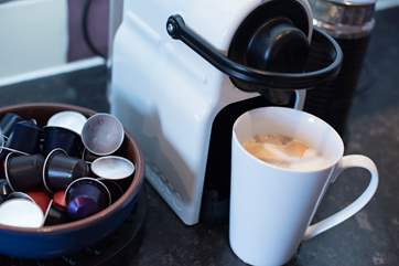 A Nespresso machine for that perfect morning coffee...