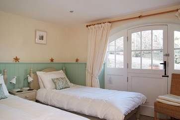 The twin bedroom is also on the ground floor (Bedroom 2).