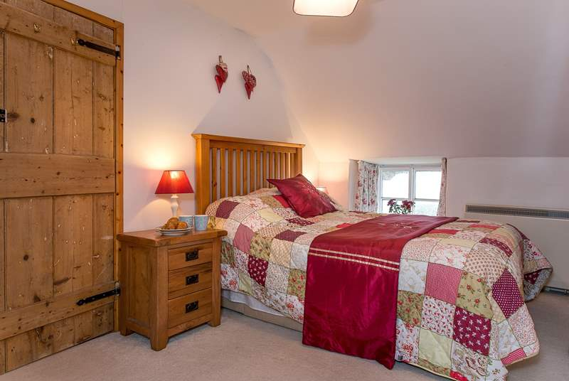 The cottage style double bedroom