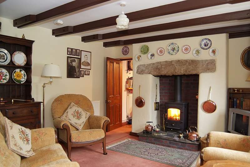 The cosy sitting-room.