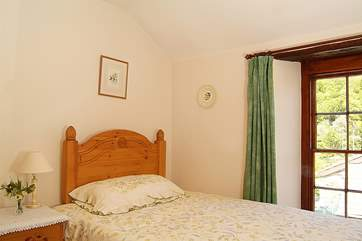 One of the two single bedrooms.