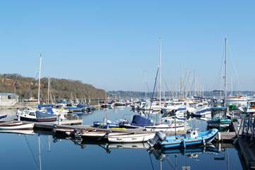 Mylor Yacht Harbour is close to the cottage, a scenic destination for a cycle ride.