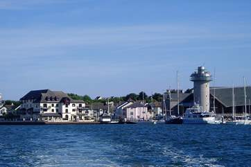 Looking towards Harbour House and the Maritime Museum from the water.
