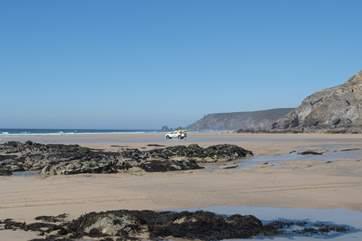 Porthtowan beach on the north coast is just over half an hour's drive away, a superb surfing beach.
