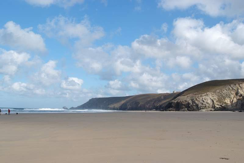 Chapel Porth on the north coast.