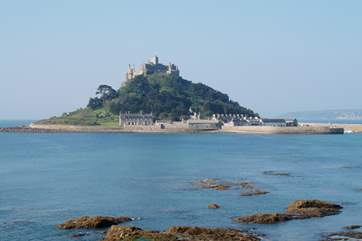 A view of St Michael's Mount at Marazion, a fifteen minute drive from The Croft.