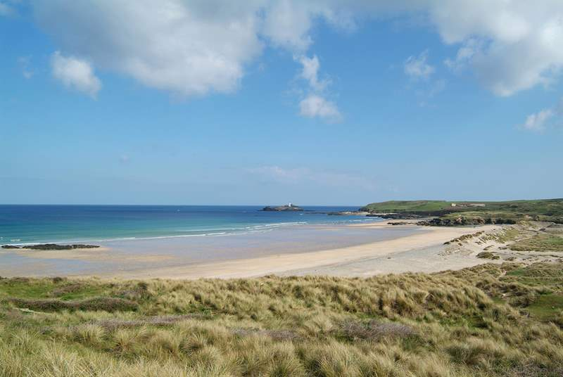 The north coast is a short drive away, and there you will find the glorious long sandy beach at Gwithian.