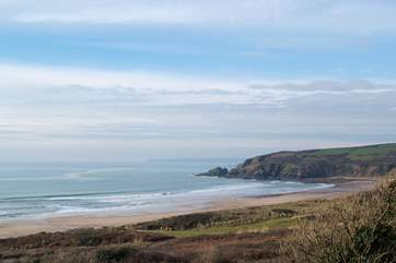 Walk the coast path towards Marazion and Penzance in one direction and Porthleven in the other.