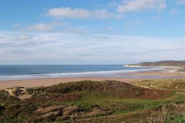 North Devon is famous for its wide sandy beaches, excellent for walking and surfing - the wilder the weather the better!