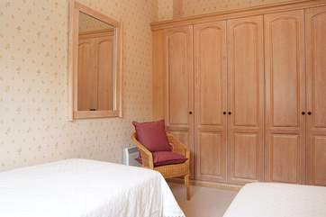 There is plenty of storage space in the bedrooms.