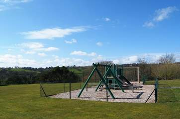 The children's play-area at Maenporth.