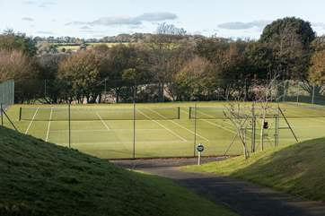 The tennis courts even have a fabulous view.