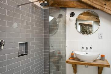 The very stylish en suite shower-room.