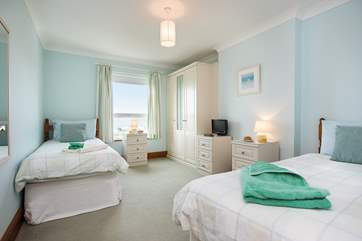 One of 2 twin bedrooms.