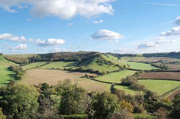 The south Somerset countryside is beautifully unspoilt. This is the Cadbury Iron Age ring.