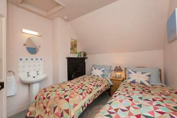 The twin bedroom can also be made up with just one single bed if you wish.