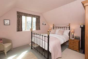 The bedroom looks out to the front of Manor Farm Lodge.