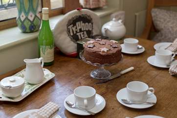 ... and there is always a wonderful home made cake too.