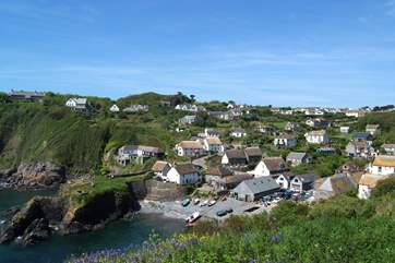 A spectacular view of Cadgwith from up on the coastal path.