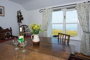 Lovely sea views from the first floor living-area.