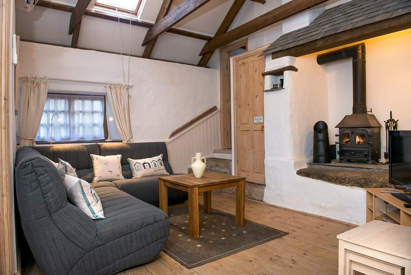 The sitting-area has a lovely multi-burner making this an ideal retreat whatever the weather.