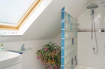 The fabulous en suite shower-room has a large walk-in shower.