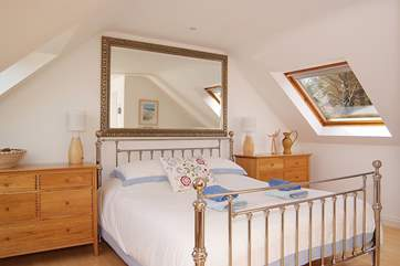 The wonderfully comfortable bed in the master en suite bedroom.