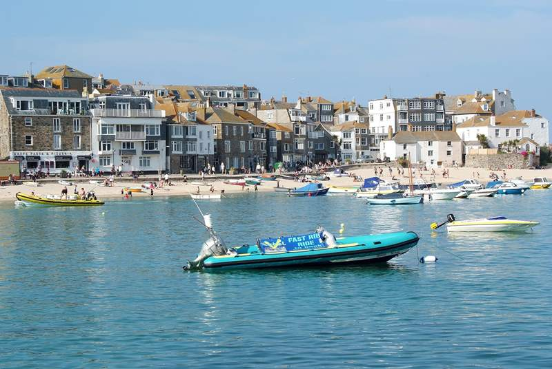 St Ives harbour.