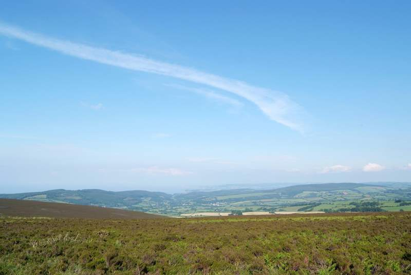 This is classic Exmoor scenery - this is the view from Dunkery Beacon, the highest point of the Exmoor National Park.