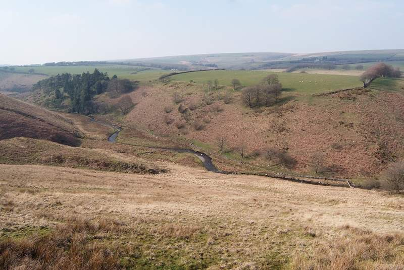 This beautiful Exmoor scenery is just above Simonsbath. Wide open spaces and deep valleys to explore.