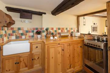 The kitchen is compact but cleverly designed with all that you will need for your holiday here.