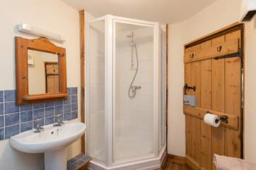 There is also a shower for guests who prefer that.