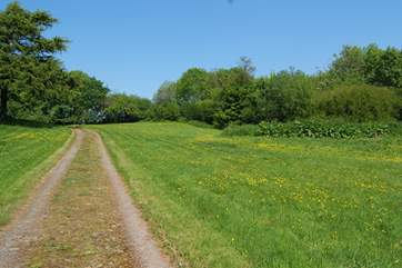 Your have your own driveway through a stunning meadow and private parking.