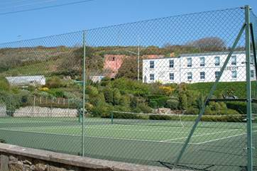 The tennis courts just across the road from Zodiac House.