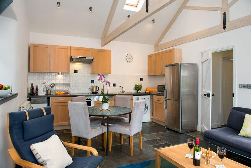 The open plan living-area is the ideal space for everyone to gather and enjoy time together.