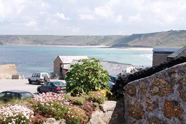 Fabulous views over Sennen from the terrace.