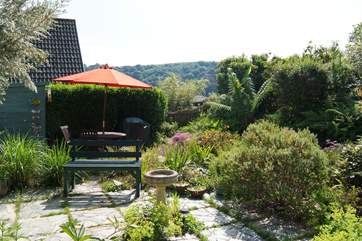 The garden faces south and is a wonderful sun-trap.