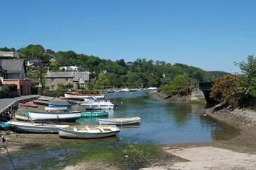 The inner harbour at Golant, just down the road from The Sheiling.
