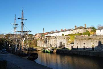 One of the beautiful tall ships moored in historic Charlestown harbour.