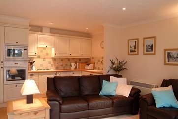 The open plan living space provides a sociable environment.