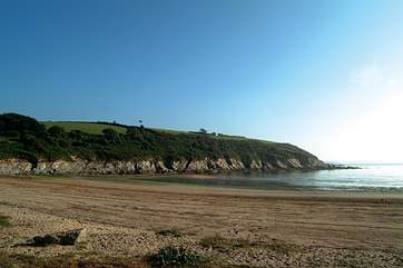 Maenporth beach is perfect for families.