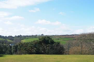The lovely countryside views from the estate.