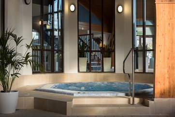 Relax in the Jacuzzi.
