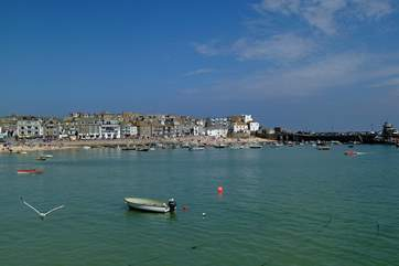 The harbour town of St Ives is just over two miles away.