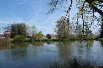 You have sole use of the fishing lake next to the cottage - safely fenced but of course supervise children when you go to the lake together.