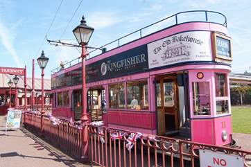 The famous Seaton Tramway is a must! There is a station in Colyton and the route along the Axe Valley is beautiful.