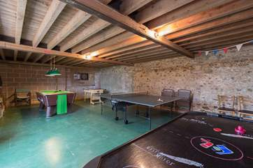 Across the little lane into the farmstead is this great games-room. Ideal for any rainy days you might have.